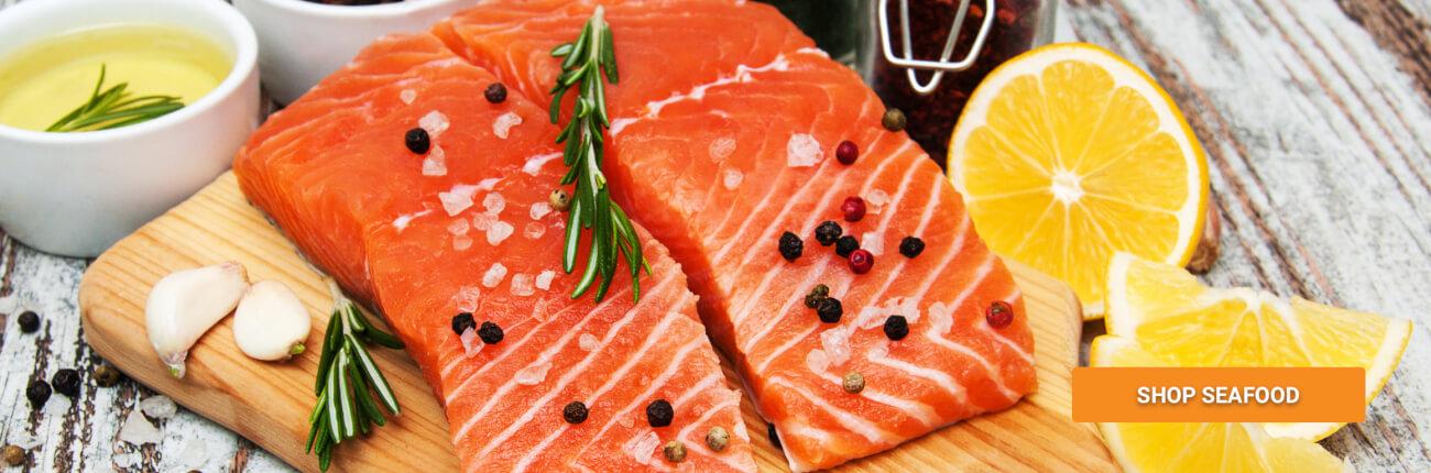 raw fish with lemon and garlic